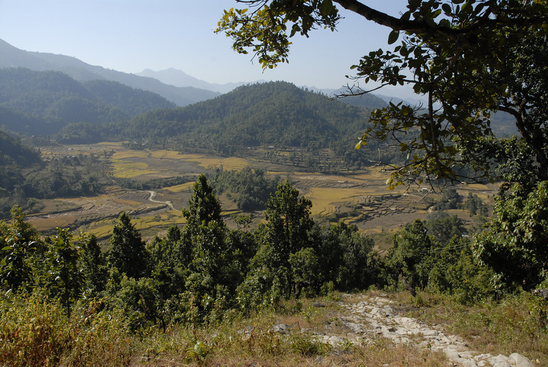 This is the valley where Dip Joti and the Jumdanda Child Care Centre are located.