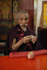 I had purchased several pieces of Tibetan jewelry and asked this monk to bless them.