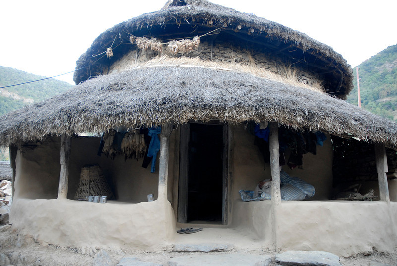 This was the round house that we stayed in.Made of mud and stone with a thatched roof.