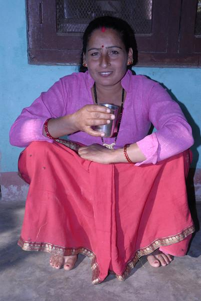 Dhiren's wife Sabitri.