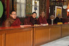 These monks were in constant prayer and chanting.