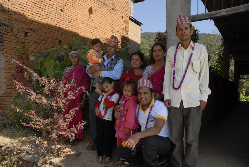 The Bhattarai family. Liladev, Sahadev's mother had gone to Chitwan to bless her brother.