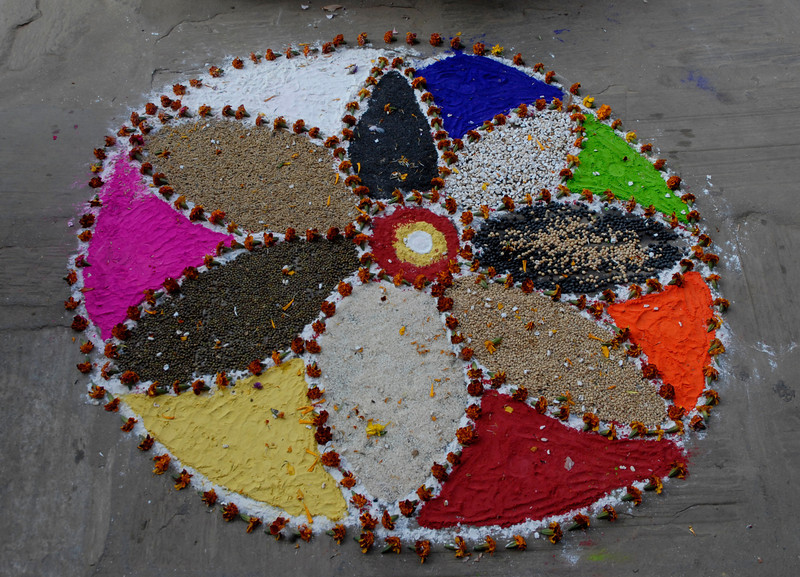 One of the cafes in the Bazar constructed this out of various grains.