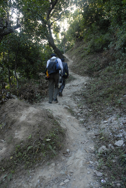 Throughout the photos you will see the various paths that we treked in getting to the schools.