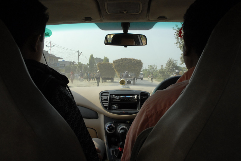 The next few shots are just traffic scenes form inside the taxi...