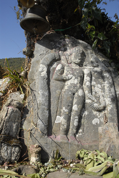 At this small Chitori there were carved Hindu deities where travelers leave offerings and seek blessings.
