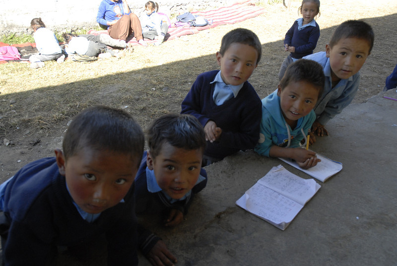 A big jump...we are now In Pokhara at the Rastrya Loman Thang Mustang School. This is our second year supporting these children from the northern area of Nepal. They come to school here when the winter sets in on the high plains. The school and thier education is supported through donations.