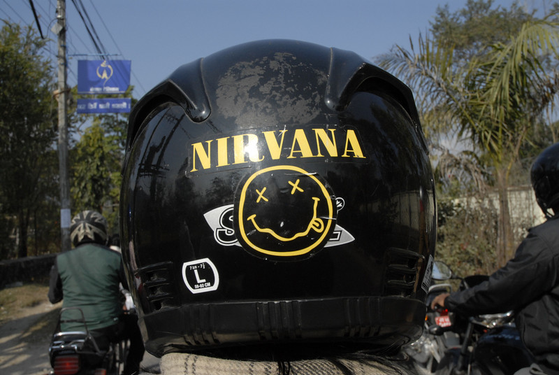 This was the back of Kunga's helment.