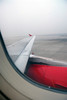 Early morning view of the smog just before lift-off to Kathmandu.