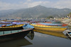 This and the next 4 photos are taken at Pewa Lake. The boats for rent are very colorful.