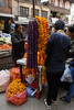 The marigold garlands are given to honor people as well as decorations for the home, business, vehicle or animal.