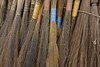 These are the type of brooms used throughout Nepal. They have short handles and so the sweeping is done in a stooped position.