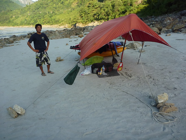 Nasz namiot na drugÄ… noc