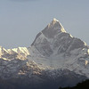 Machhapuchhare (Fish tail), 6993 m. Holy mountain, has not been climbed,