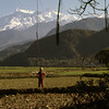 View towards the mighty Annapurna himal