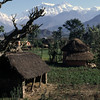 From left: Annapurna IV, 7525 m, Annapurna II, 7939 m and Lamjung himal, 6985 m