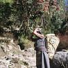 Our cook. She is from Namche Bazaar in Solu-Khumbu region, south of Everest (Sagarmatha). She is wearing a sherpa dress.