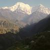 860327, day 8. Landruung-Dhampus<br /> Morning view of Annapurna dakshin