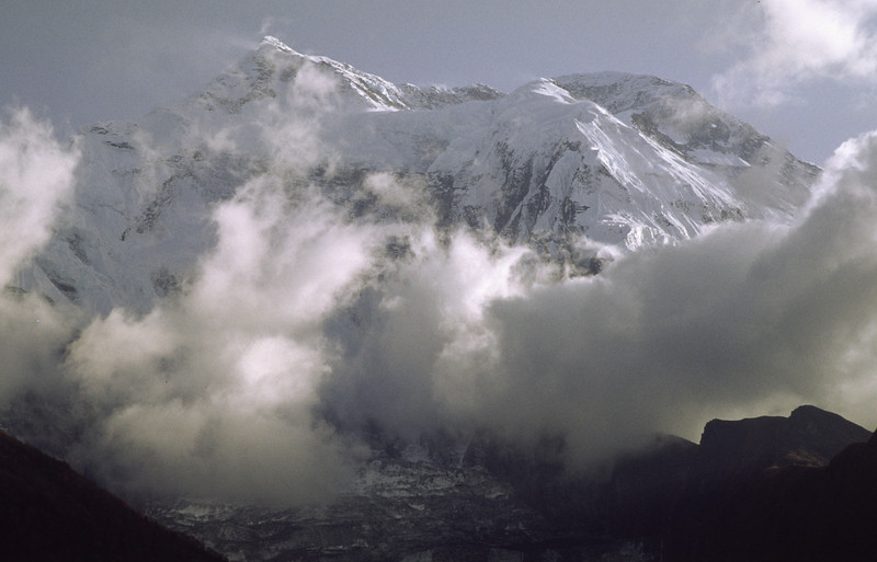 North face of Annapurna II, 7937 m, from Pisang.