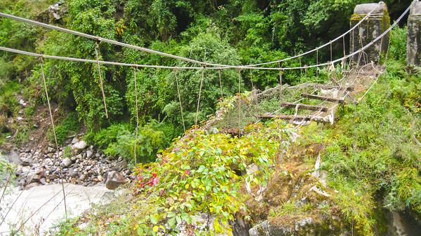 Old bridge--Annapurna Circuit Trek, Nepal