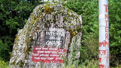 """Broadband Internet""--Annapurna Circuit Trek, Nepal"