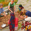 After the home tour we helped mama and a neighbor lady finish shelling the beans.  We had no common language, but it was still a great human interaction.  She probably  thinks foreigners are crazy because they show up unannounced, help with the house work, and then give her 1000 rupees (about $13, which is about 3 days of income for the average Nepali) for the privilege.