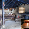 The ground floor of the home has a dirt floor, no heating or insulation, and almost everything is hand made, even the copper pot for soaking beans.  Water comes from somewhere up the hillside.  They do have an electric light, probably run by a solar panel that charges a battery.