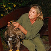 "My friend Karen is a veterinarian, so she took over treatment.  Anyone with advanced first aid training knows that ""everyone gets a head to toe exam.""  What I found interesting is how Karen gave the eagle a head to claw exam.  Diagnosis: a plugged up crop.  In the US that means surgery; in Nepal all we could do was wait.  The eagle was getting better before we left."