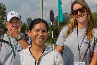 Dean Kobashigawa (where are we?), Alisa Iloreta, Michelle Berry @ Tribhuvan Int'l airport
