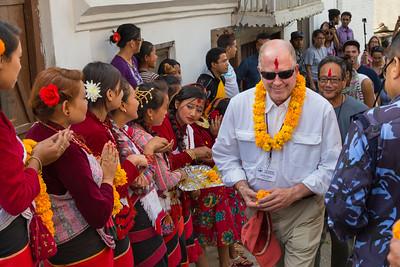 John Pfeffer, gynecologist, first time in Nepal.