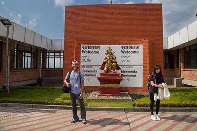 Mike Yuen, welcoming us to Kathmandu, Oct  23, 2015.