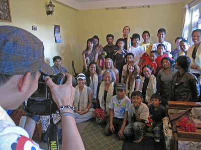 Some of the group visits the Sahara Orphanage.