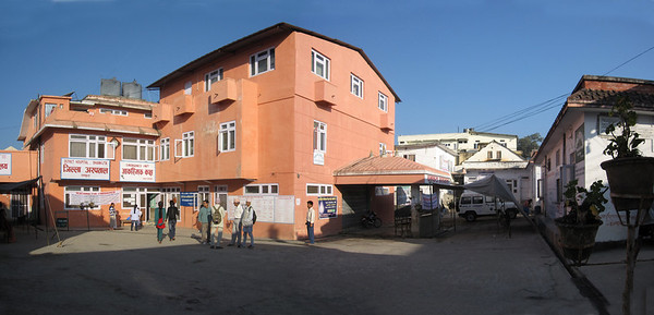 A panoramic view of the hospital.