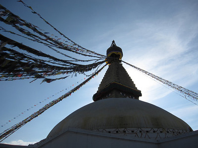 The stupa at Boudhanath.