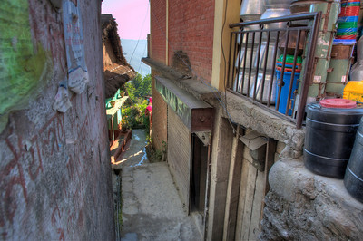 An alleyway in Dhankuta.