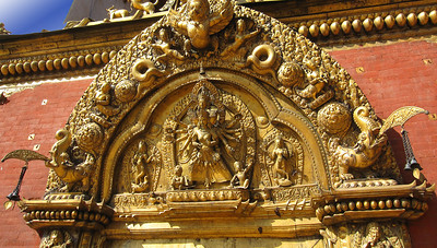 Temple entrance in Bhaktapur.