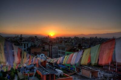 Sunrise in Kathmandu.