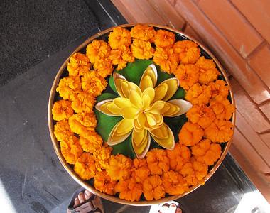 Bwong: flower bowl at Tibet Guest House