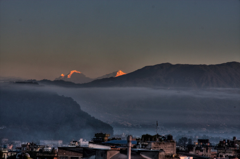 Bwong: the Himalayas from Kathmandu