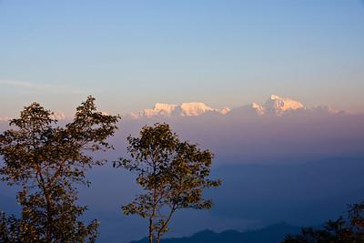 Bwong: Himalayas from Hile ridge