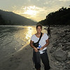 Bikash: Anita, sunset, river.