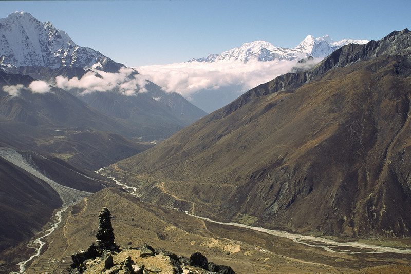 Looking west towards Tengboche