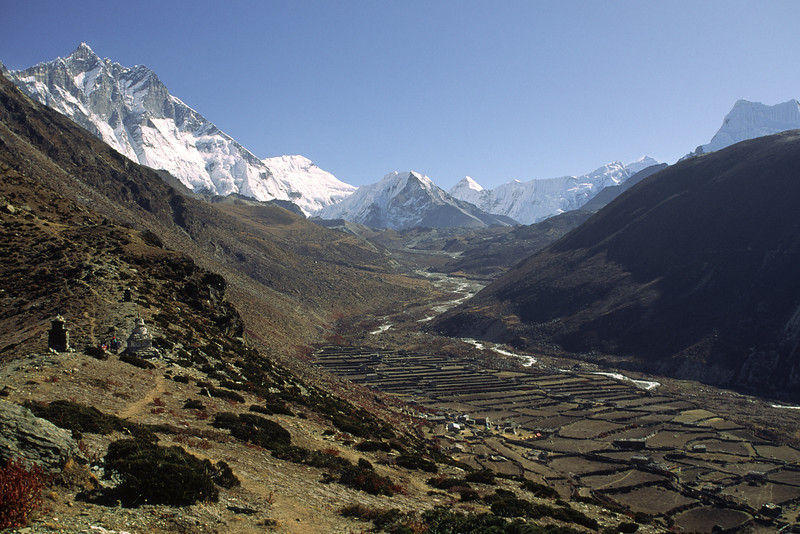 Looking east to Chhukung village