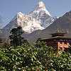 931022, day 14. Tengboche<br /> A nice rest day at the gompa (monastery). Ama Dablam in the background.<br /> Listening to Anton Bruckner's 8th symphony while looking at Sagarmatha really gave me synergistic feelings.