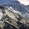 Sagarmatha (Everest) behind the Lhotse-Nuptse ridge.
