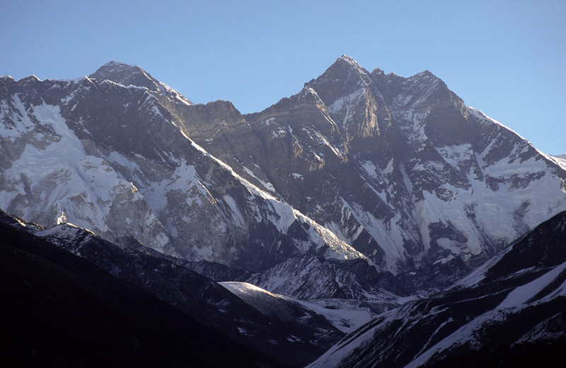 Sunrise over Sagarmatha and Lhotse