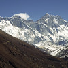 960302, day 9. Tengboche-Pangboche.<br /> Sagarmatha, 8848 m, to the left and Lhotse, 8501 m, to the right.