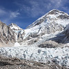 Everest Base Camp Glacier and Mountains