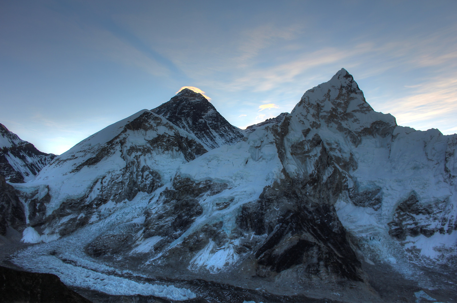 Everest, Nupste and Base Camp View from Kala Pattar