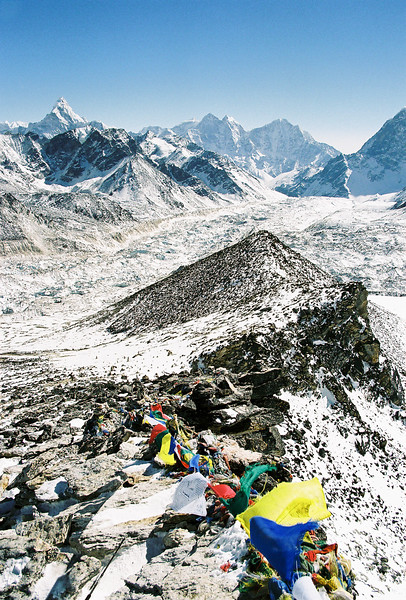 Looking south from Kala Patthar (5545m), Ama Dablam in distance (left)